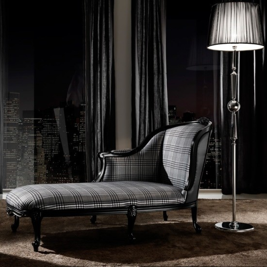 Klasik Louis Houndstood Tasarım Şezlong