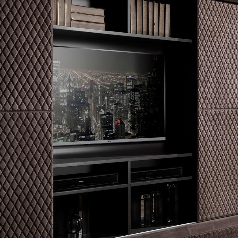 Modern İtalyan Ceviz Kaplama Tv Ünitesi