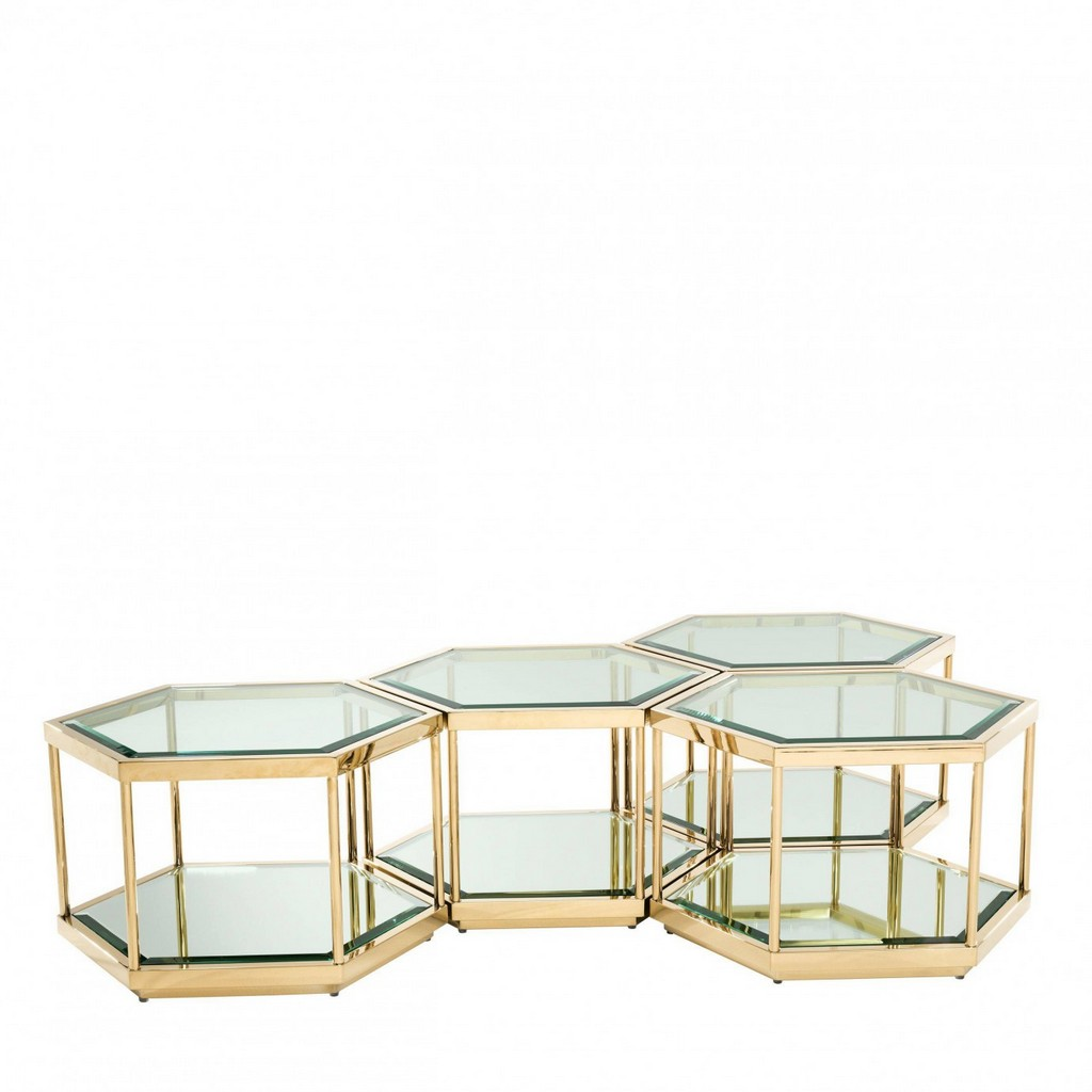 Petek Altın Modern Masa