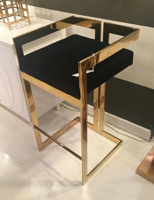 Unit One Paslanmaz Gold Profilli Bar Sandalyesi