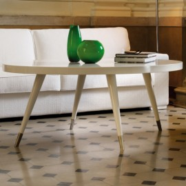 Çağdaş İtalyan Tasarım Oval Sehpa